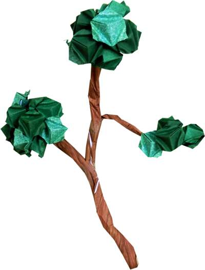 Origami Branch With Buds