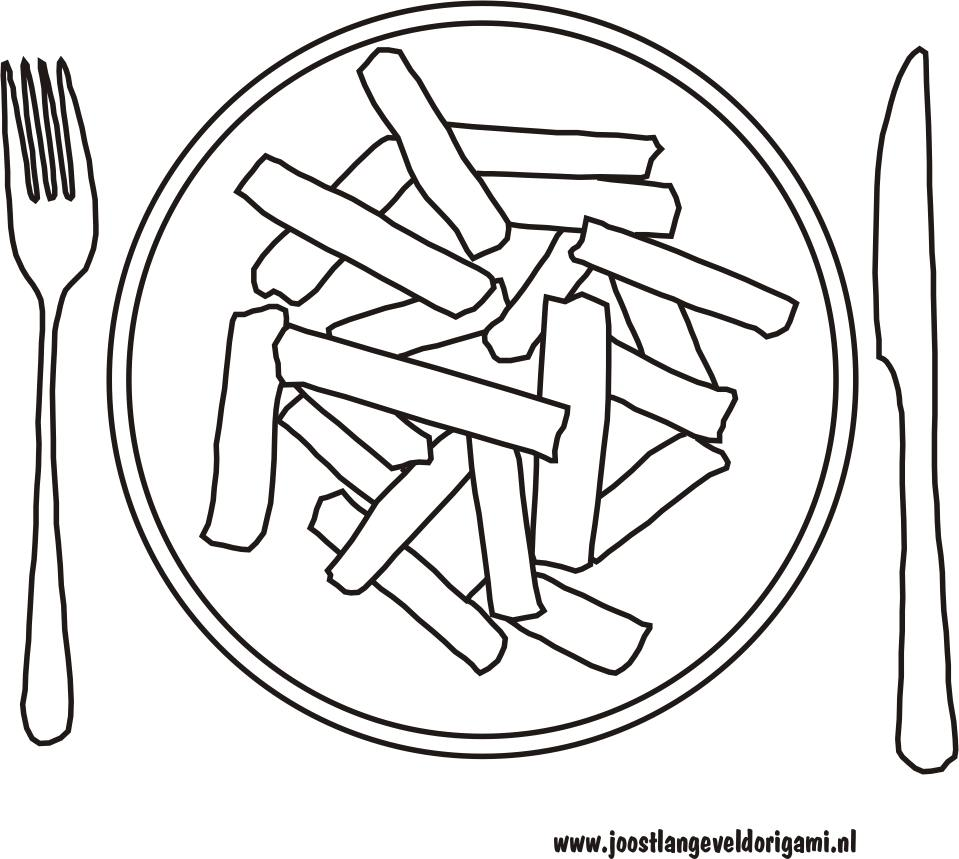 french fries coloring pages - photo#11
