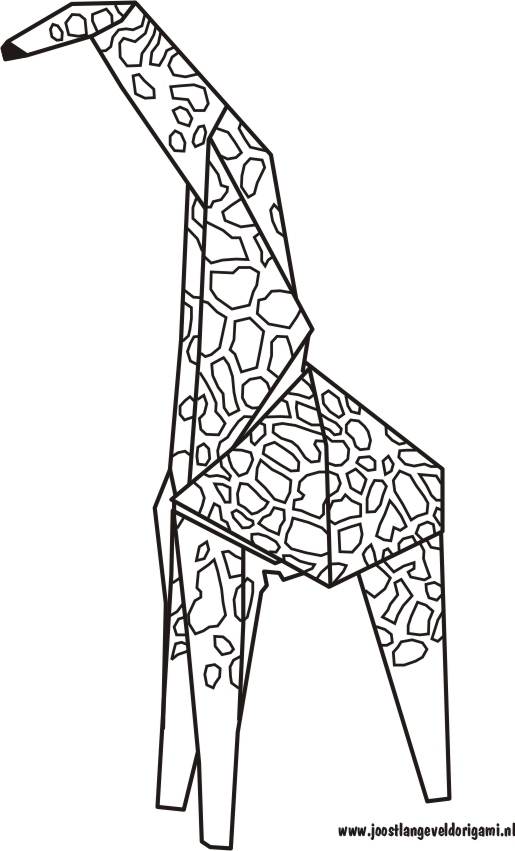 ORIGAMI GIRAFFE DIAGRAMS