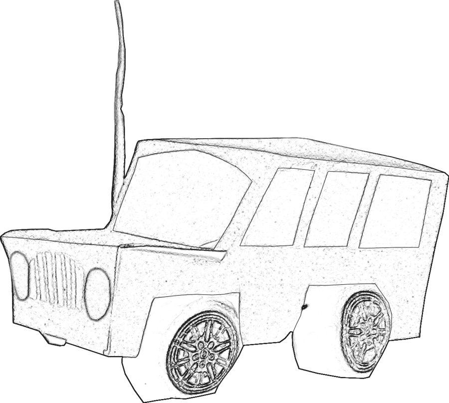 Kleurplaten Auto Jeep.Kleurplaat Jeep