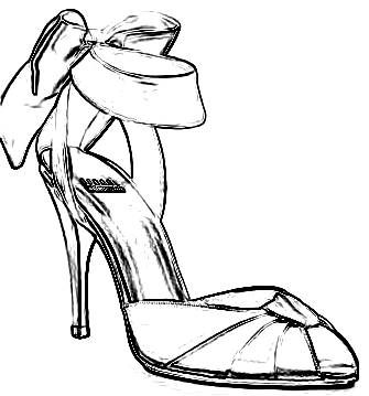 high heel coloring page - joost langeveld origami page
