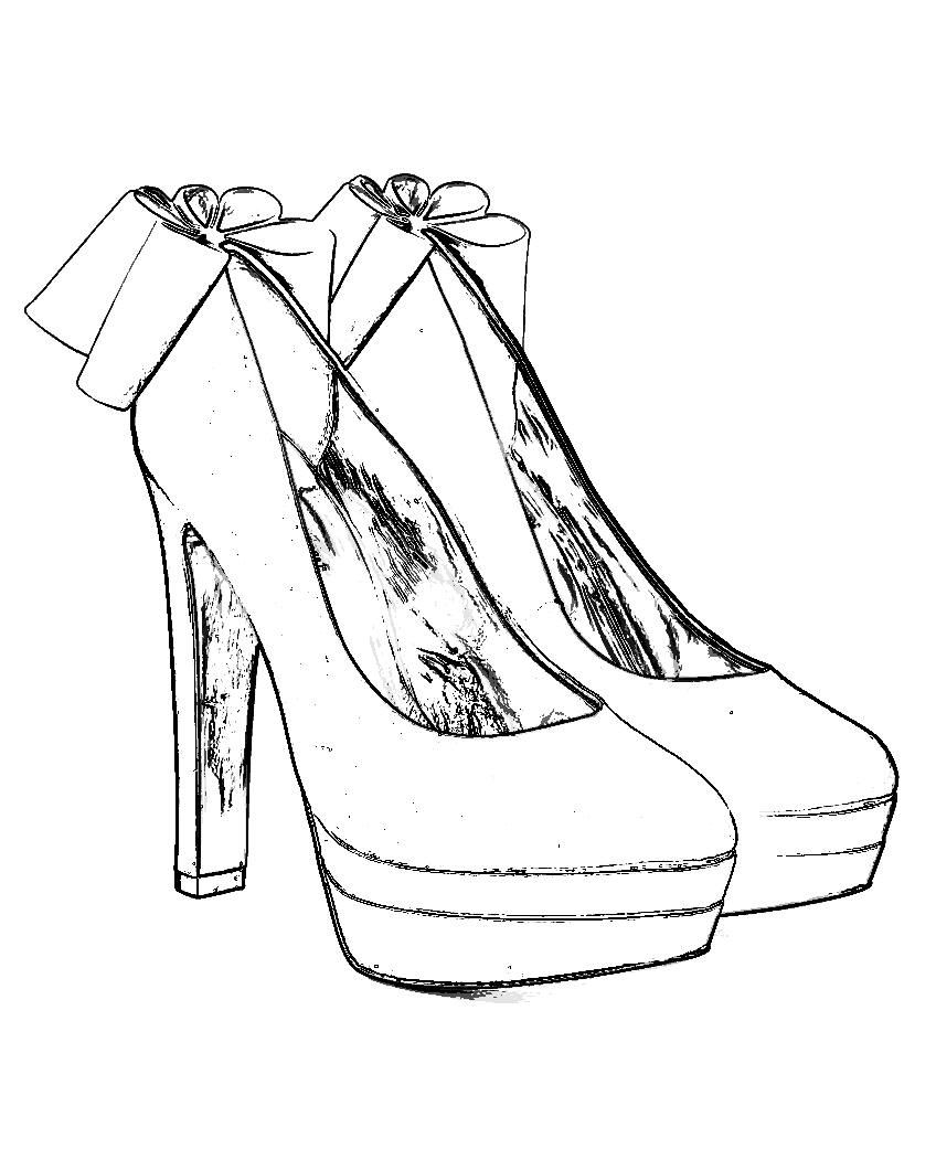 High Heel Shoes Coloring Pages Pictures To Pin On