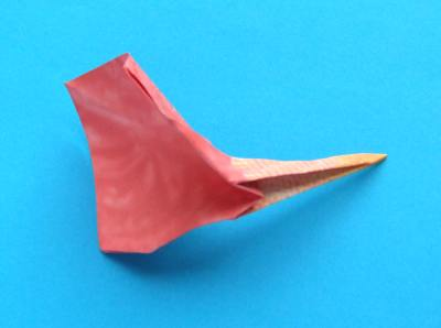how to fold an origami anthurium