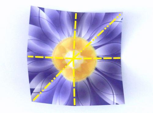 Origami Iris Flower Tutorial (Traditional) - YouTube | 372x500