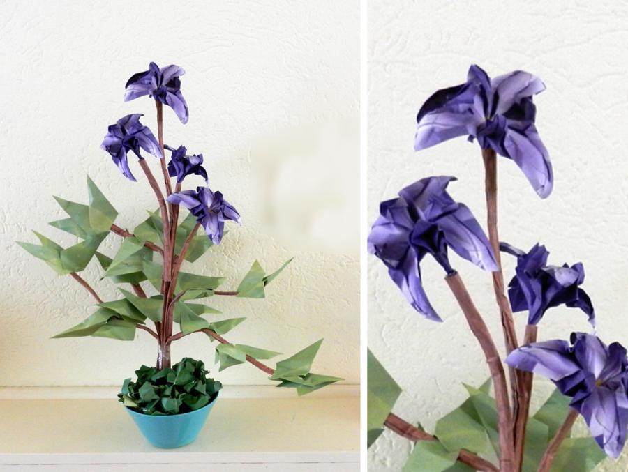 How To Make an Origami Iris Flower - YouTube   677x900