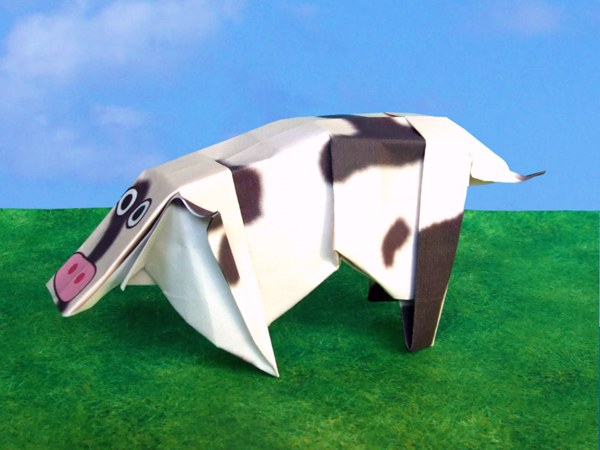 Realistic Origami Duck Rabbit Funny Cow With Tail And Ears
