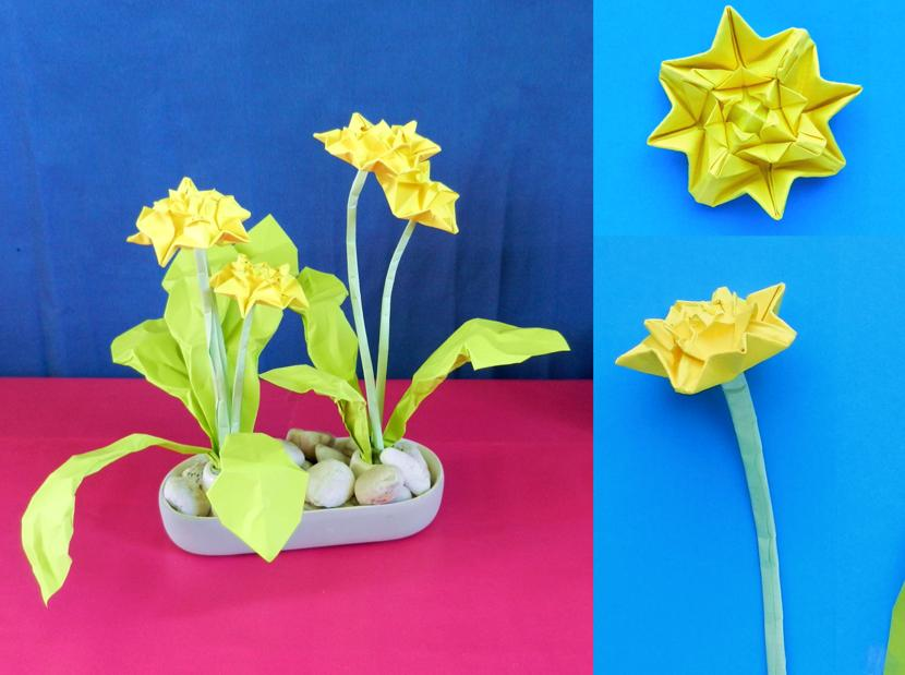 Joost langeveld origami page origami dandelion ccuart Image collections