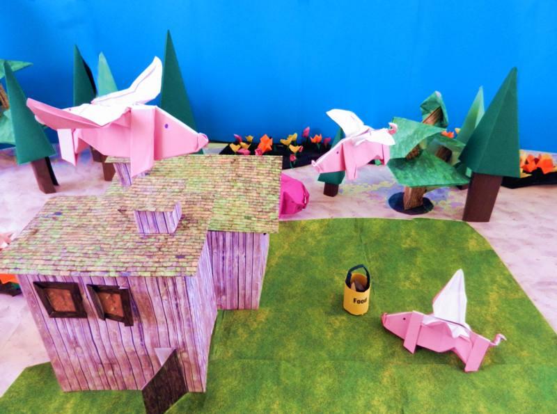 Flying Pig Reihe Vektororigami Stock Vektor Art und mehr Bilder ... | 595x800