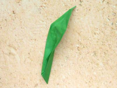 Large Green Leaf For An Origami Lily Of The Valley