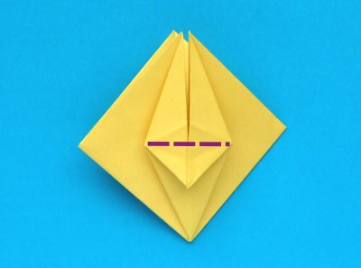 step by step origami narcissus folding instructions