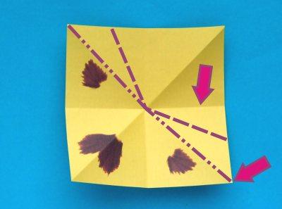 origami pansy folding instructions