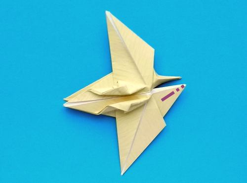 Origami Dinosaur Pterodactyl - easy origami - How to make an ... | 370x500