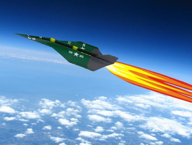 Origami Rocket Plane At High Altitude