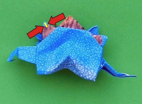Origami Stegosaurus | Gilad's Origami Page | 366x500