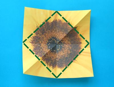 how to make an origami sunflower