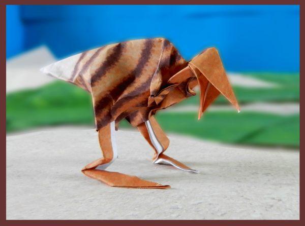 Fabulous paper sculpture velociraptor | Origami paper art ... | 446x600