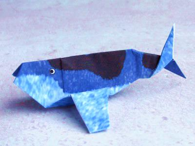 How to Make an Easy Origami Killer Whale (Orca) | 298x400