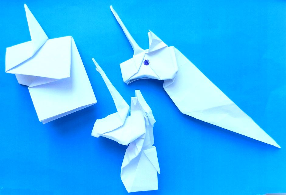 8 Best Origami Unicorn Instruction images | Origami unicorn ... | 641x940