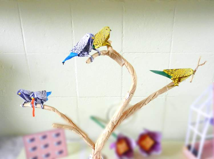 Origami Parakeets