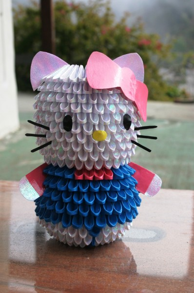 3d origami hello kitty model