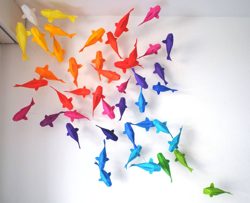 Joost langeveld origami page for Rainbow koi fish
