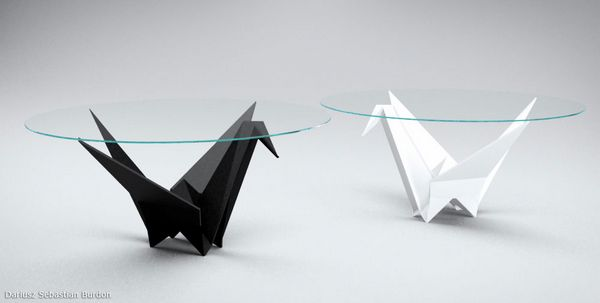 How to make an origami dining table (http://www.origami-make.org ... | 303x600