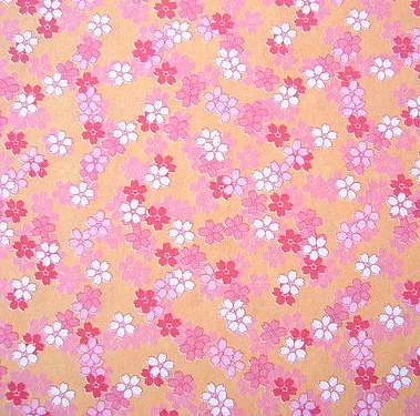 pink kawaii origami paper with tiny flower print - Colored Paper Printable