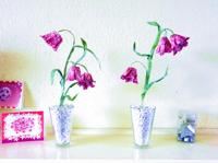 Origami Fritillary flowers