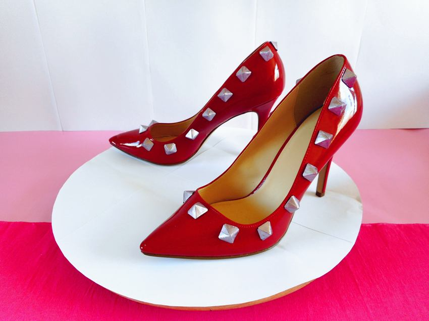 High Heels with Origami Studs